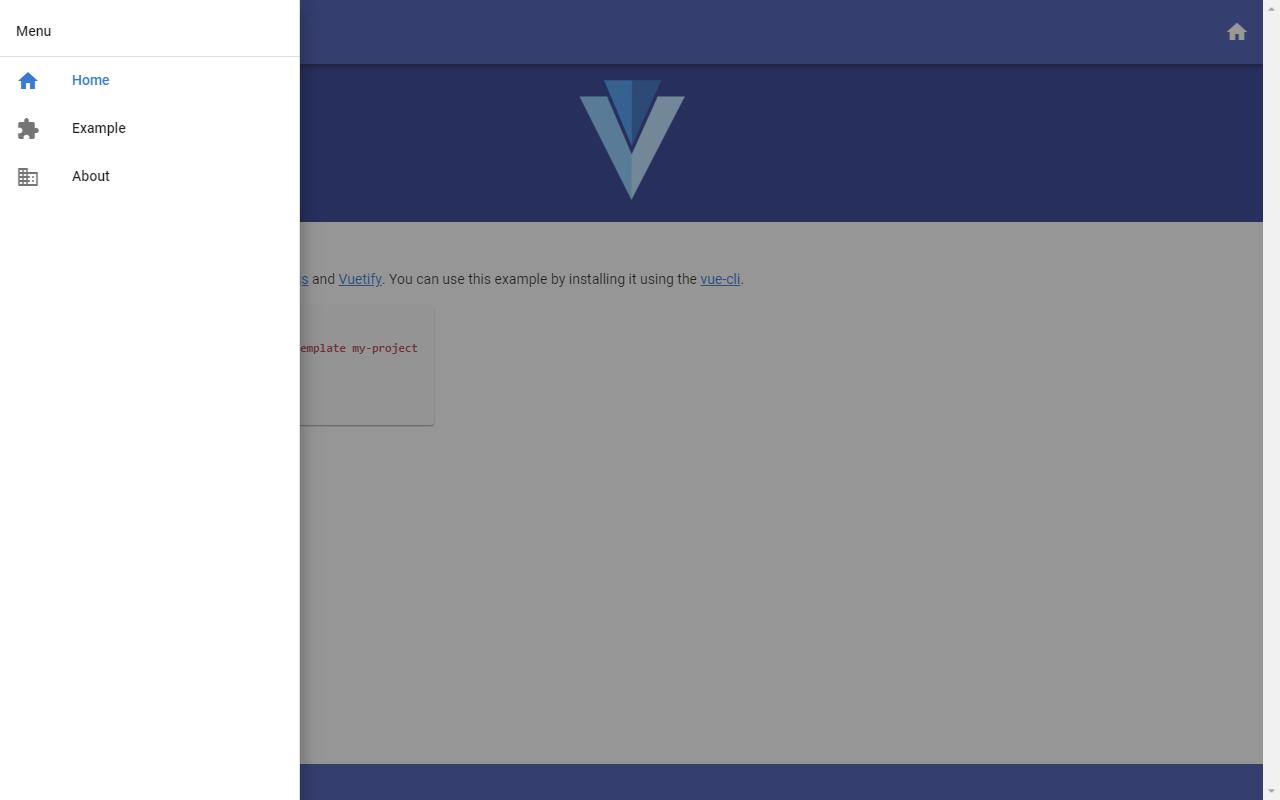 Vuetify sidebar template